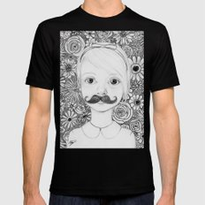 Portrait of Iris SMALL Black Mens Fitted Tee