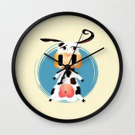 Mooo Lan The Cowardly Cow Wall Clock