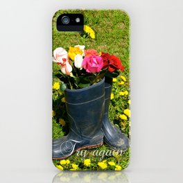 Try Again iPhone Case