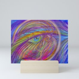 Guardian Angel with Feather Mini Art Print