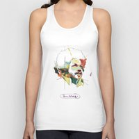 tim shumate Tank Tops featuring Tim Maia by Carlos Quiterio