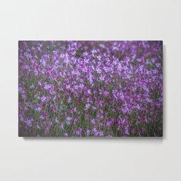 Magenta Flora Metal Print