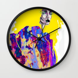 Yellow Haired Woman Wall Clock