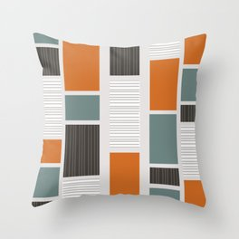 Mid Century Modern Panels Throw Pillow