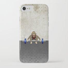 Sock Monkey Bodybuilder iPhone Case