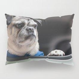 Pug Ride Pillow Sham