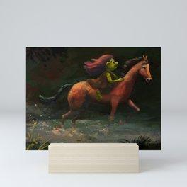 Ogre Riding through the Forest Mini Art Print