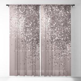 Sparkling Mauve Lady Glitter #1 #shiny #decor #art #society6 Sheer Curtain