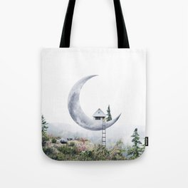 Moon House Tote Bag