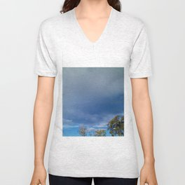 The Smallness of Man (or Woman) Unisex V-Neck