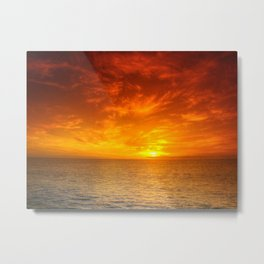 Days End On The Water Metal Print