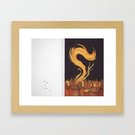 Some Great Fire At Earth's End. Framed Art Print
