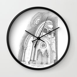 alcobaça arches Wall Clock