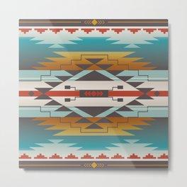 American Native Pattern No. 287 Metal Print