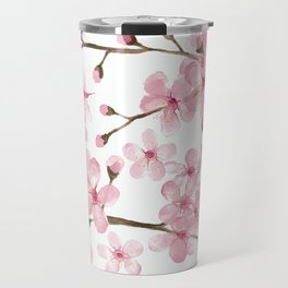 Cherry Blossom Watercolor Spring Blossom pink Travel Mug