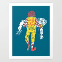 junk food Art Prints featuring Death Of Junk Food by ERROR Design