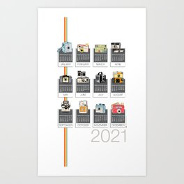 2021 Make It Snappy! Calendar Art Print