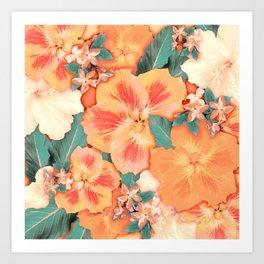 Aloha Orange Sherbet Art Print