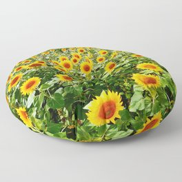 Field of Sunny Flowers Floor Pillow