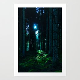 Shaft of Light Art Print
