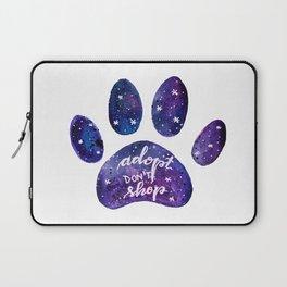 Adopt don't shop galaxy paw - purple Laptop Sleeve