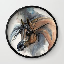 Arabian horse portrait Wall Clock
