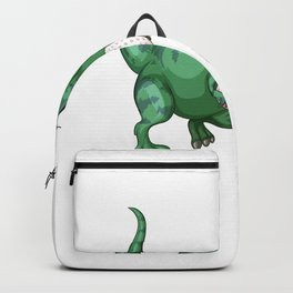 Dinosaur T-Rex Bunny Funny Easter Egg Backpack