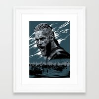 vikings Framed Art Prints featuring Vikings by Lionel Charpentier