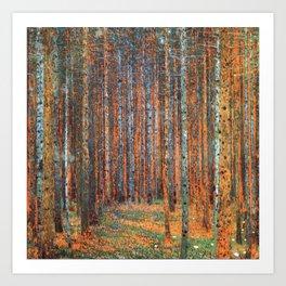 Tannenwald Gustav Klimt Art Print