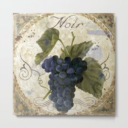 Tuscan Table Noir Metal Print