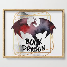 Book Dragon Serving Tray