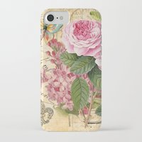 iPhone Cases featuring Vintage Flower #23 by Juliana RW