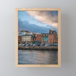 The Waterfront at Sunset Framed Mini Art Print