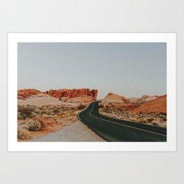 Desert Road Trip IV Art Print