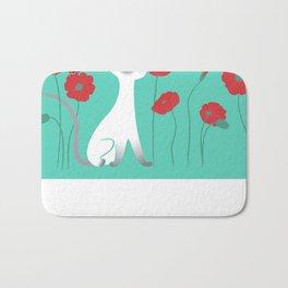 Siamese & Poppies Bath Mat