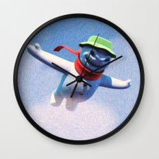 something scary in the air Wall Clock