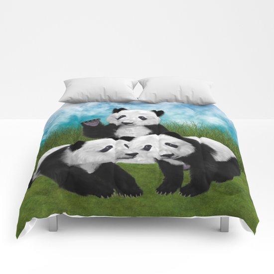 Panda Bear Cubs Love Comforters