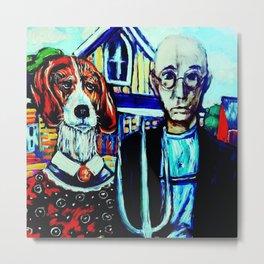 Gothic Beagle Metal Print