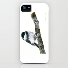 Black-capped Chickadee by Teresa Thompson iPhone Case