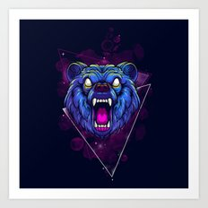 Frenzy Bear Art Print
