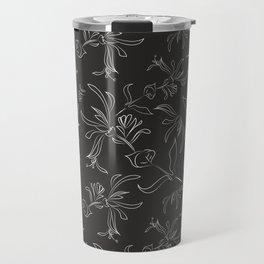 Hand Drawn Floral Travel Mug
