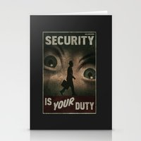 fallout Stationery Cards featuring Fallout Security  by Chimaera Designs