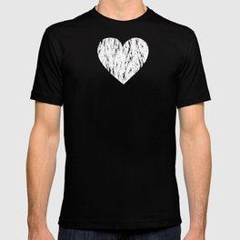 ghost paint heart T-shirt