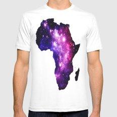 Africa : purple pink fuchsia galaxy White MEDIUM Mens Fitted Tee