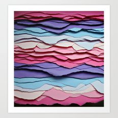 Colour waves Art Print