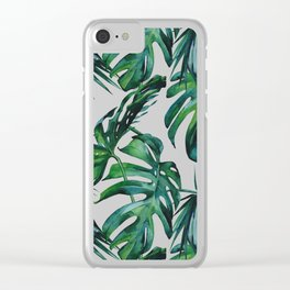 Tropical Palm Leaves Classic Clear iPhone Case