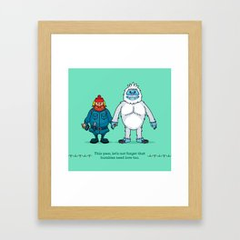 Yukon and Bumble Framed Art Print
