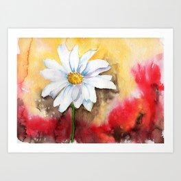 daisy with edge Art Print