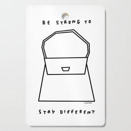 Girl Power Typography Fashion Illustration Black White Cutting Board