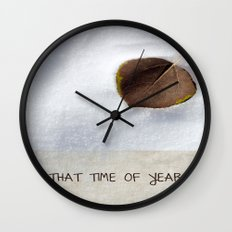 That Time of Year Wall Clock
